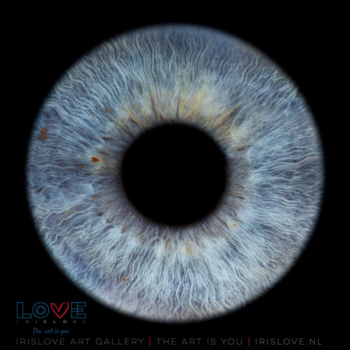 felblauwe ogen